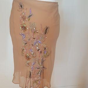 Stunning Nude Beaded Skirt